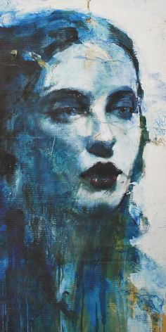 woman in blue / max gasparini