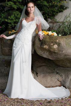 Robe de mariée mousseline ivoire, Cilmeda du 38 au 50