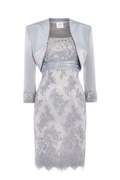 New occasionwear by Anoushka G - Elizabeth in platinum blue