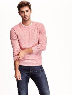 Heathered Crew-Neck Sweater
