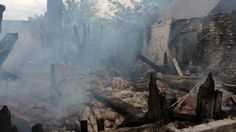 A house destroyed during a shelling of Donetsk's Oktyabrsky district by the Ukrainian military. (RIA Novosti / Irina Gerashchenko)
