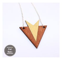 Geometric necklace by CutOutsProductDesign on Etsy