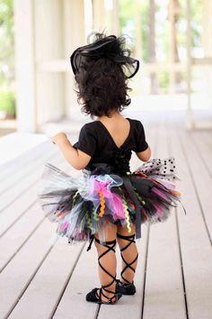 Wild Black Tutu  Halloween Toddler Tutu  Black by RufflesandTutus