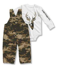 Love this Dark Green Camo Ripstop Overalls & Bodysuit - Infant & Toddler on #zulily! #zulilyfinds