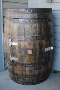 Whiskey Barrel Outdoor Liquor Cabinet / Lawn & Garden Cabinet