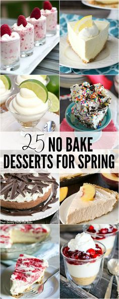 Easy desserts are my favorite thing to bring to parties and potlucks. These 25 No Bake Desserts for Spring are made for entertaining and crazy easy to whip up! Easy Potluck Desserts, Easy Summer Desserts, Refreshing Desserts, Small Desserts, Cold Desserts, Party Desserts, No Bake Desserts, Delicious Desserts, Yummy Food