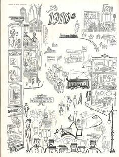 """""""Change of Mind 1900-1950,"""" 1910s - published in Vogue, January 1950 - Saul Steinberg - Saul Steinberg Foundation"""