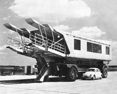 Mobile Lounge, Dulles International Airport, Washington, D.C.  (Eero Saarinen, 1958-62)