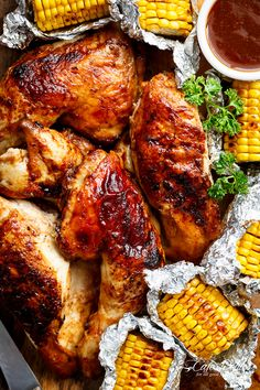 Bring your favourite Nando's chicken to the table with this Portuguese BBQ Peri Peri Chicken Recipe! PLUS the addition of juicy corn cobs in foil packets!