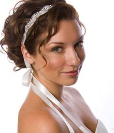 Headband with decorated jewels at the ends - give the appearance of a reverse necklace...love the idea!