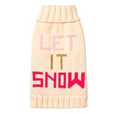 Let it Snow Dog Sweater by Fab Dog - Pink