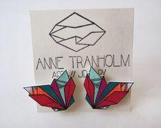 COLOURSPLASH GEOMETRIC earrings // unique by AnneTranholm on Etsy