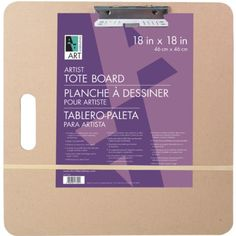 The standard #sketch #board for indoor or outdoor drawing. Made of masonite with two strong steel clips heavy duty rubber band and integral handle.