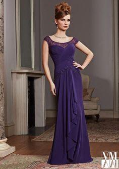 5c3351969e5 VM Collection 71006 Cap Sleeve Lace MOB Dress
