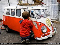 Cute kid's VW Camper Van pedal car