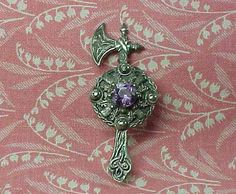 Vintage Sterling Celtic Scottish Axe Sash Brooch by smalls4utoo