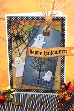 By Jenny DTM #memorybox Halloween Card with Memory Box stamps and dies.  http://stampingwithbibiana.blogspot.com/