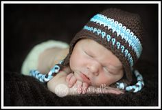 CROCHET PATTERN Earflap Hat 03 and 36 month by aukies on Etsy