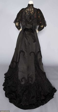 Evening Dress (image 4)   House of Worth   France; Paris   1890s   silk, beads   Augusta Auctions   November 16, 2016