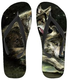 Wolf wolfs gorgeous flip flop nail
