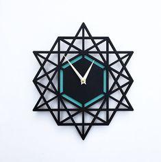 Moderne horloge murale horloge géométrique 12 x 13 par decoylab