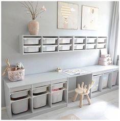 Playroom Shelves, Ikea Playroom, Small Playroom, Ikea Kids Room, Toddler Playroom, Playroom Design, Toddler Rooms, Kids Room Design, Playroom Ideas