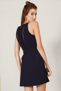 Navy Weave Dress