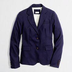 Factory classic navy blazer/