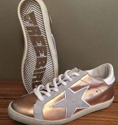 de01b8462197 Freebird By Steven 927 Leather Star Sneaker Shoe Rose Gold Size 10 New