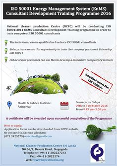 ISO 50001 EnMS Consultant Development Training Programme  ISO 50001 EnMS Consultant Development Training Programme