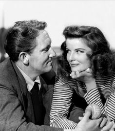 Katherine Hepburn And Spencer Tracy,In 1942, Katharine Hepburn and Spencer Tracy co-starred in Woman of The Year, the first of nine films they would make together and the beginning of a romance that would become legendary.