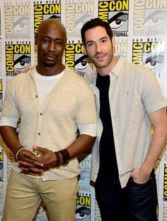 DB Woodside and Tom Ellis at Comic-Con in San Diego