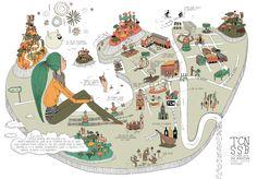 Caroline Selmes ◆ Illustration/ Map of San Sebastian