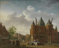 Sint-Antoniuswaag on Nieuwmarkt square in Amsterdam (Netherlands), by Isaac Ouwater, c. 1780-90