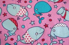 Kinderstoff Jersey lustige Haie Hai Sweet Shark Sterne Stars Fische 50cm x 150cm