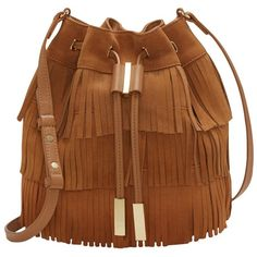 Vince Camuto Joni Crossbody found on Polyvore featuring bags, handbags, shoulder bags, tobacco brown, fringe crossbody purse, brown fringe purse, leather crossbody purse, leather cross body purse and crossbody shoulder bags