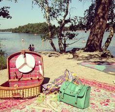Picknicken en zwemmen