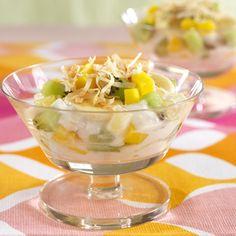 Tropical Yogurt Parfait from Splenda.com