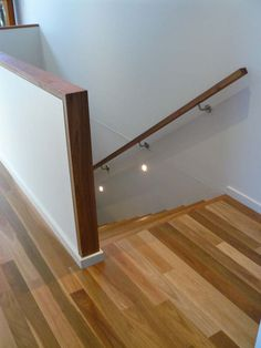 Stair railings, steel railings and staircase handrails are specialties of Coastal Staircases in Geelong. Complete our online quote request for a free quote. Stair railings, steel railings and staircase handrails are specialties of Coasta. Wood Handrail, Wall Railing, Staircase Handrail, Stair Railing Design, Steel Railing, Handrail Ideas, White Staircase, Bannister, Banister Remodel