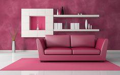 Розовый цвет в интерьере: фото