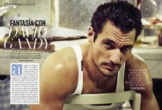 DAVID GANDY POSES FOR SERGI PONS IN DOLCE & GABBANA FOR SPANISH GLAMOUR