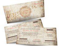 Stilvolle Ticket-Hochzeitseinladungen -Eine Liebesgeschichte geht weiter... Save The Date Karten, Ticket, Cover, Books, Wedding, Google, Vintage, Love Story, Card Wedding