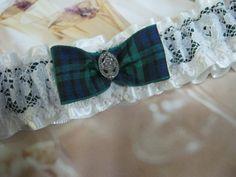 Blackwatch Tartan Wedding Garter by bridesstudio on Etsy