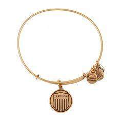Team USA Shield Charm Bangle, RAFAELIAN GOLD Finish ($32) ❤ liked on Polyvore featuring jewelry, bracelets, rafaelian gold finish, alex and ani, charm bangle, alex and ani bangles, bangle charm bracelet and alex and ani jewelry