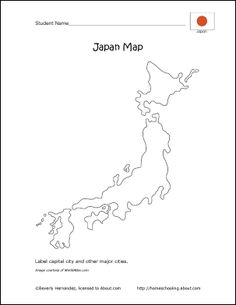 Japan Wordsearch Crossword Puzzle And More Japanese Culture - Japan map black and white