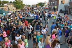 The Hornet Back-to-School Block Party on Commercial Street has become a well-attended tradition at Emporia State the first week of school each year.