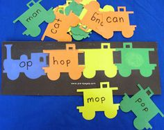 Students will locate the words and place them on the correct word family trains.
