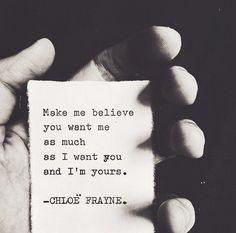 "2,478 Likes, 15 Comments - Chloë Frayne (@chloefrayne) on Instagram: ""• make me a believer."""