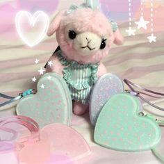 Kawaii fairy kei pastel resin necklace  bunnykawaii.com