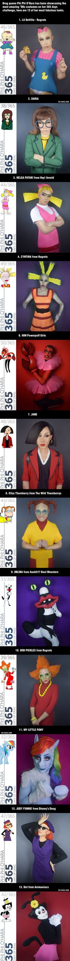 Talented Drag Queen Brings 13 Fabulous '90s Cartoon Characters To Life (By Phi…